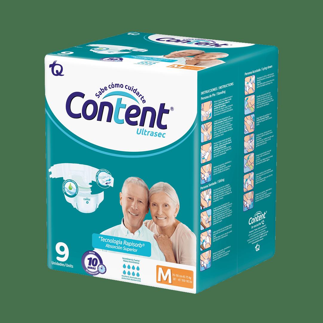 Pañal Content Ultrasec M **9/Medium 9 Und