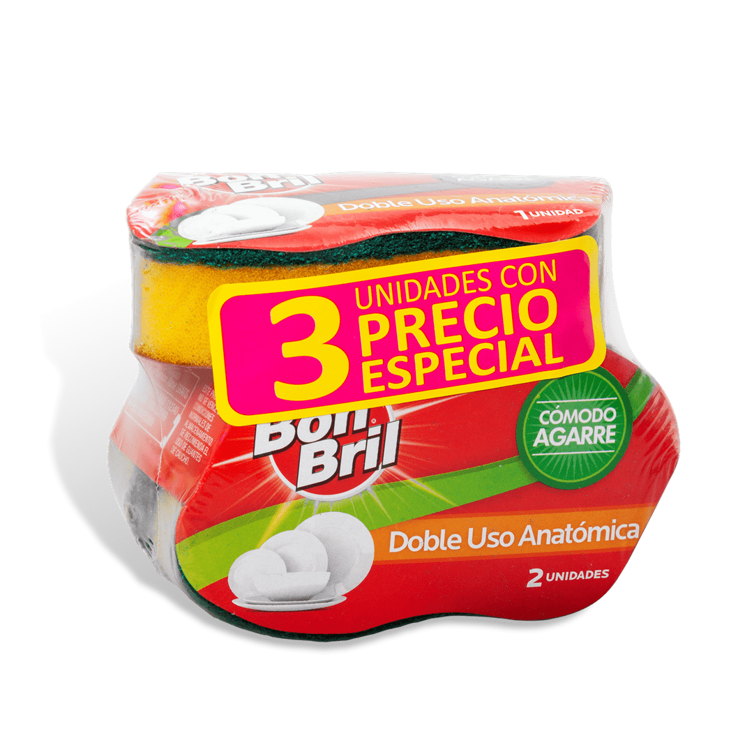 Esponja Bon Bril Doble Uso X3 Precio Especial 3 Und