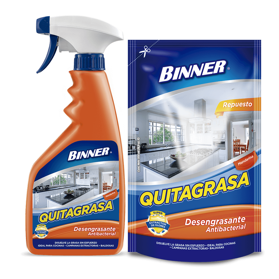 Quitagrasa Binner 500 Ml + Doypack 500Ml