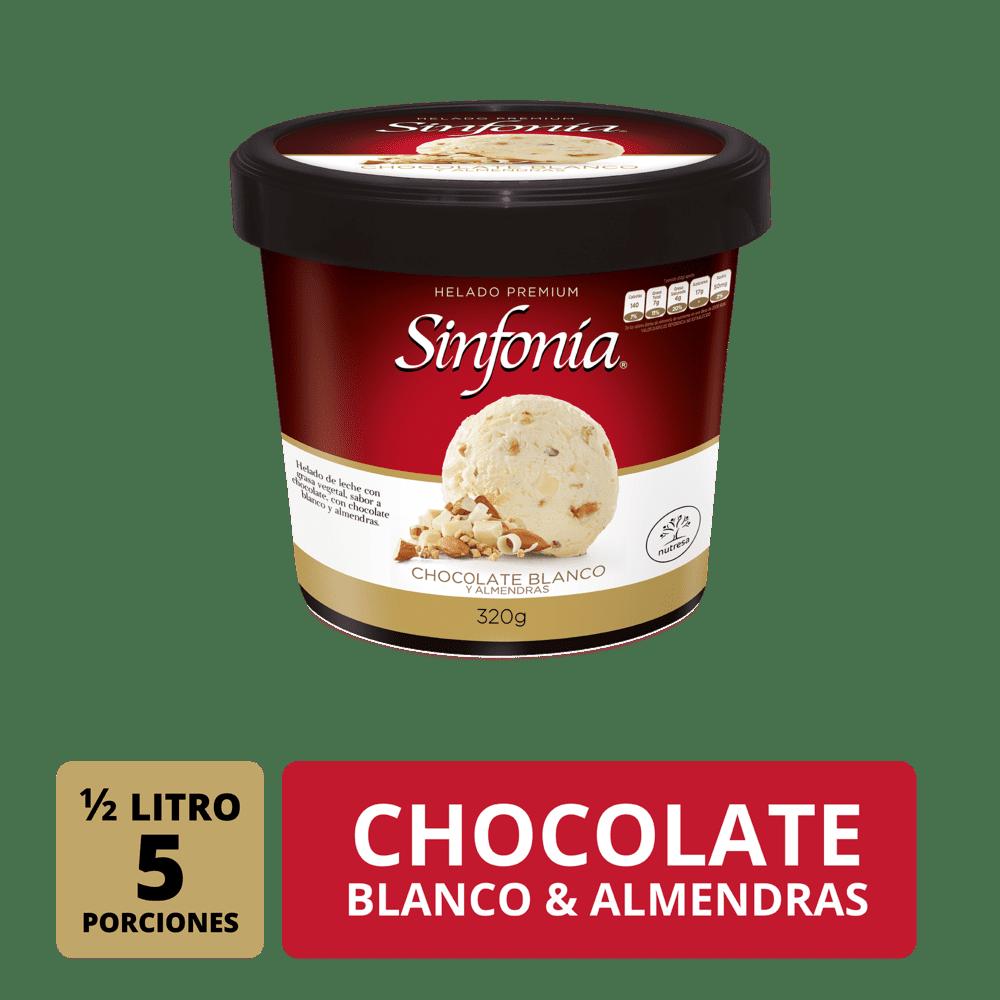 Helado Sinfonia Chocolate Blanco 1/2 Lt/320 G