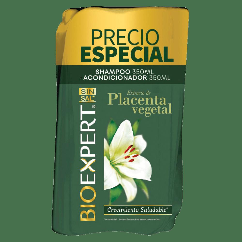 Shampoo Bioexpert 350Ml+Acondicionador 350 Placenta P. Esp