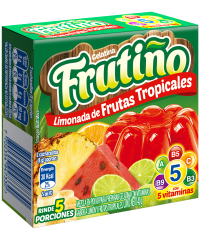 Gelatina Frutiño 3X40 G Limón Frutas Tropicales