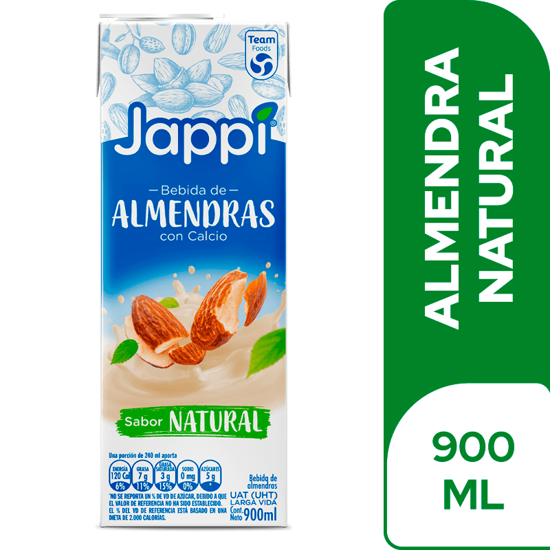 Bebida De Almendras Jappi Natural 900 Ml