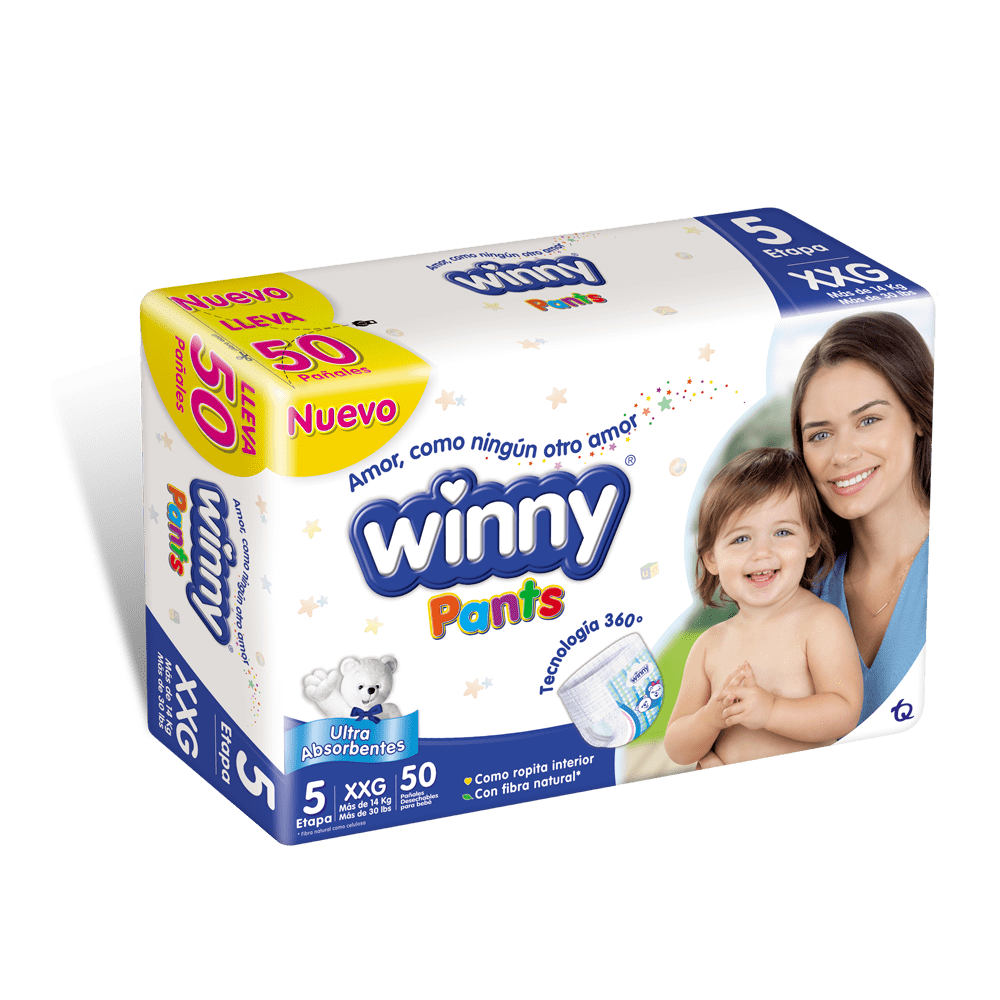 Pañal Winny Pants Etapa 5 - 50 Und