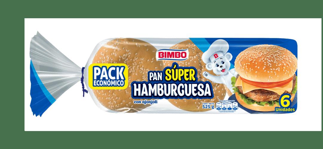 Pan Bimbo Súper Hamburguesa  X6 Und 525 G
