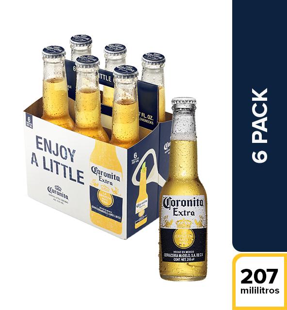 Cerveza Coronita Nal Botella Sixpack X 210Ml/Cu
