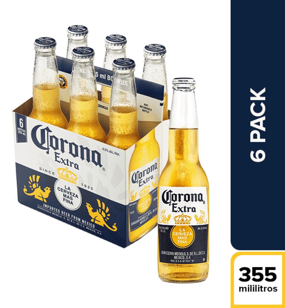 Cerveza Corona Nacional Botella Sixpack X 355 Ml C/U