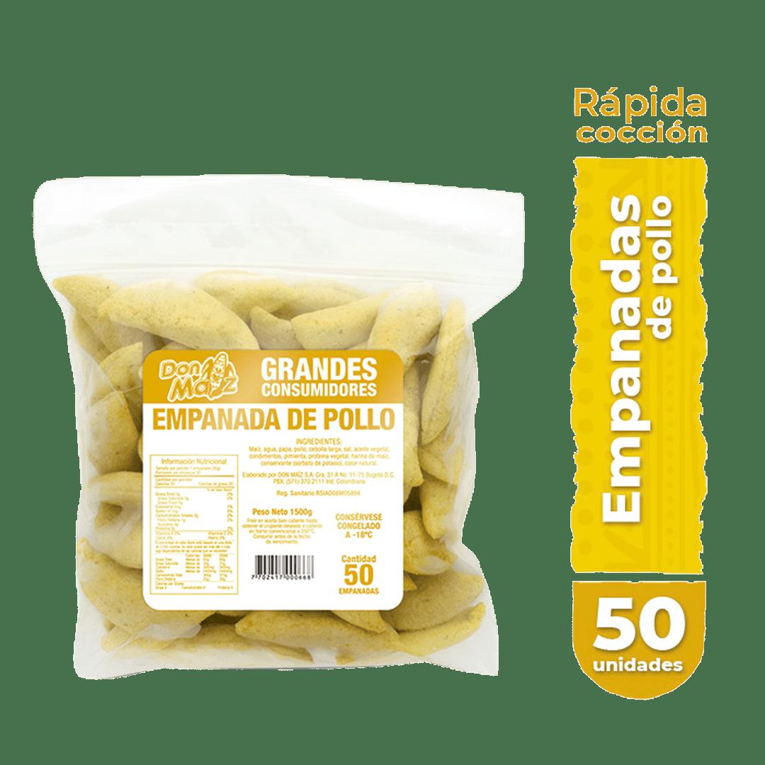 Empanadas Caseras Don Maíz Medianas X50 Und 1500 G
