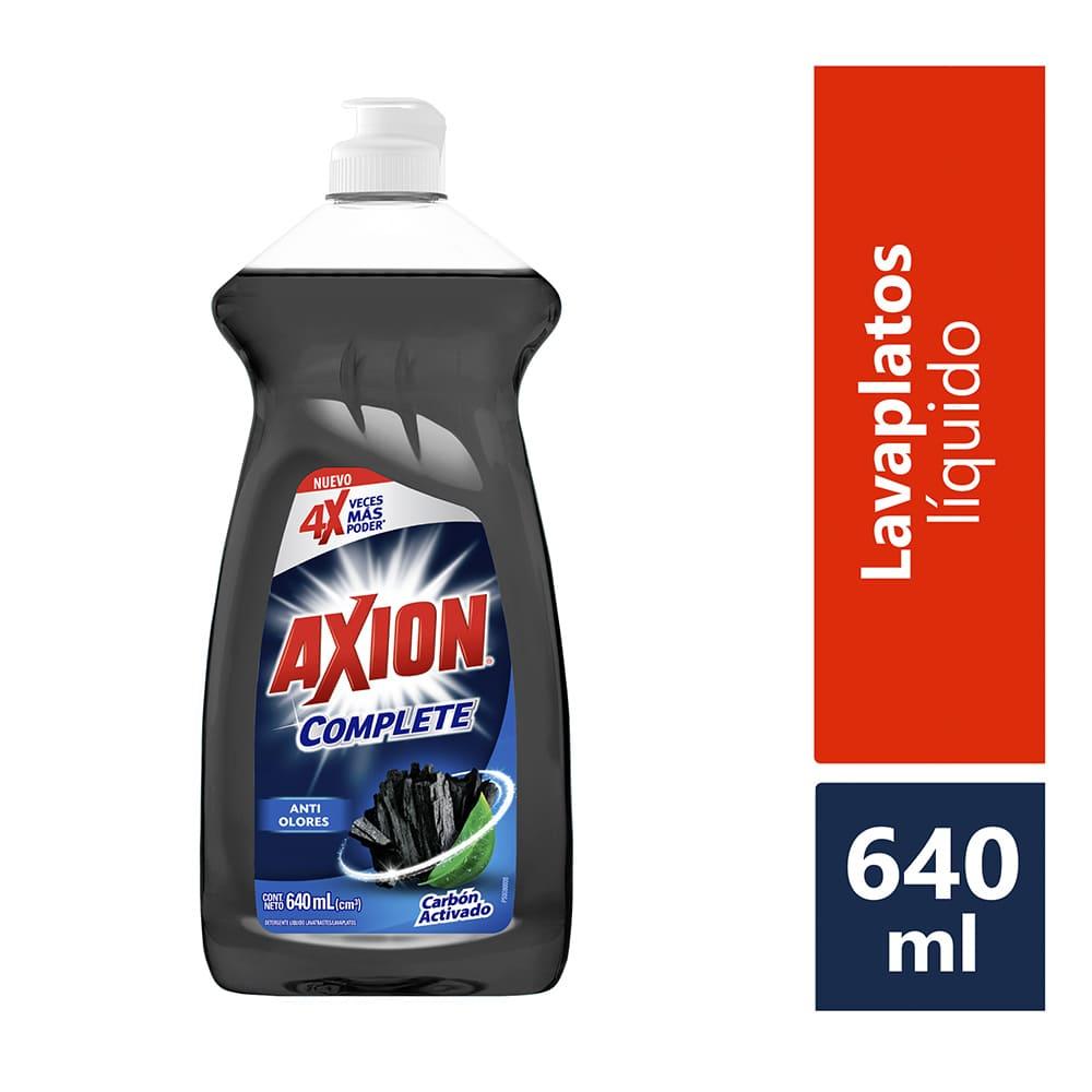 Lavaplatos Axión Complete Carbón Activado Crema 640 G