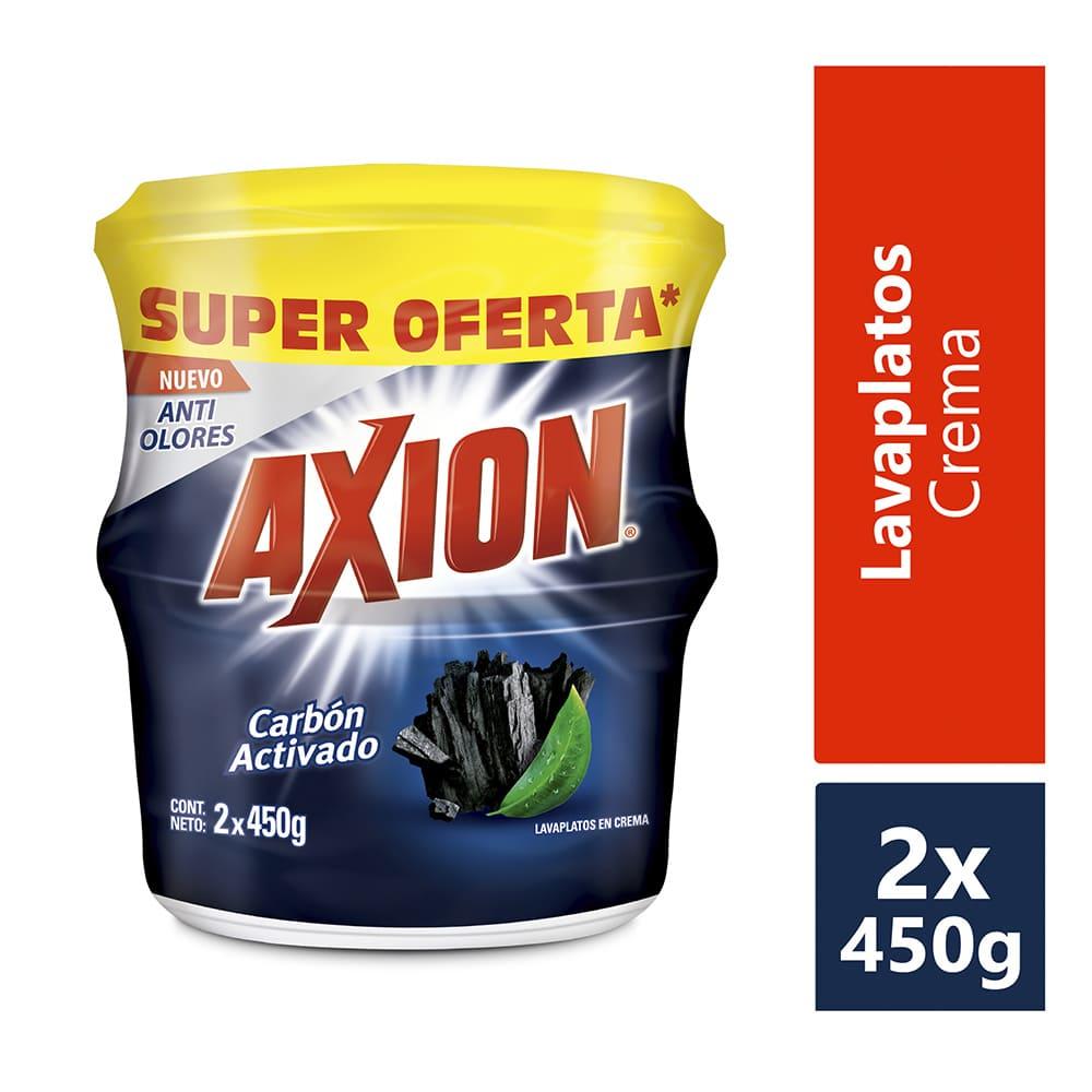 Lavaplatos Axión Carbón Crema 2X450 G $Esp