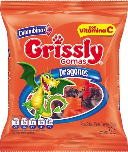 Gomas Grissly Dragones 72 G