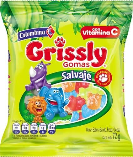 Gomas Grissly Salvaje 72 G