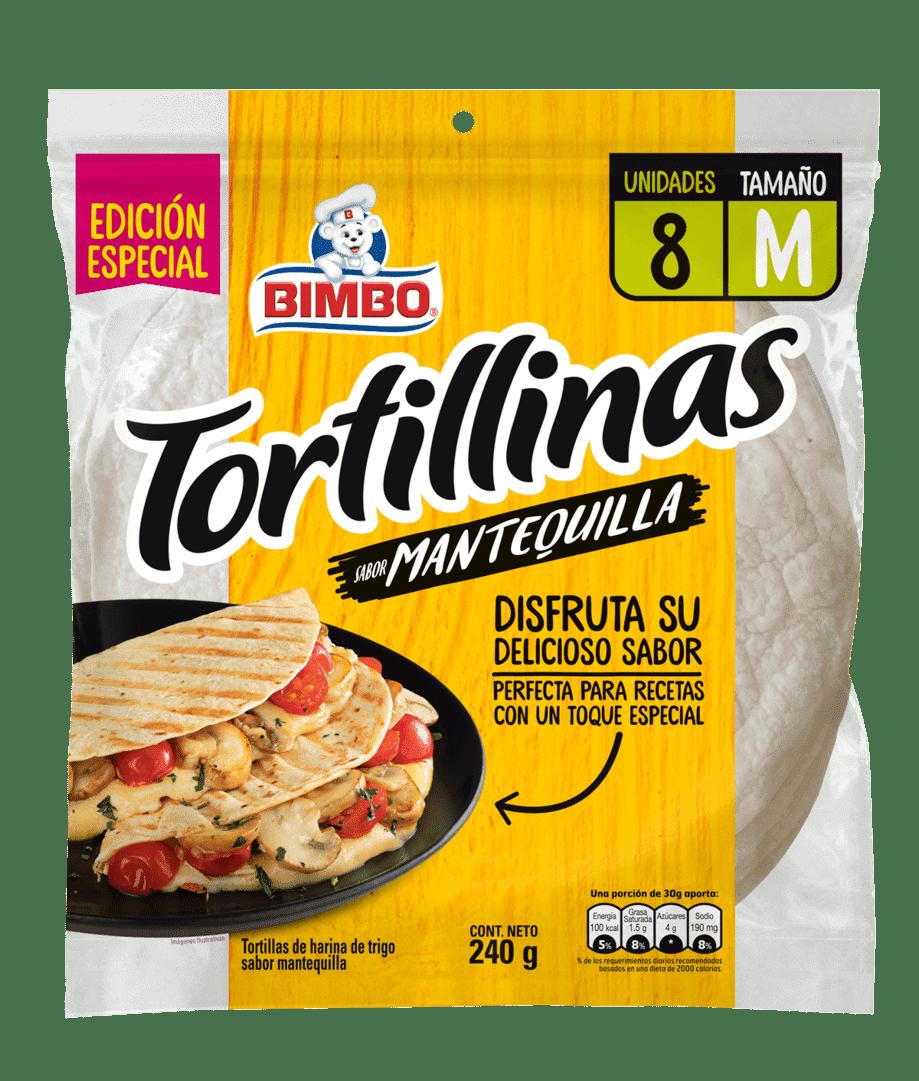 Tortillas Bimbo Mantequilla X8 Und 240 G