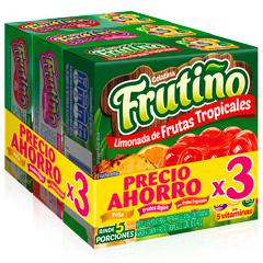 Gelatina Frutiño 3X40 G Frutos-Piña -Salpicón