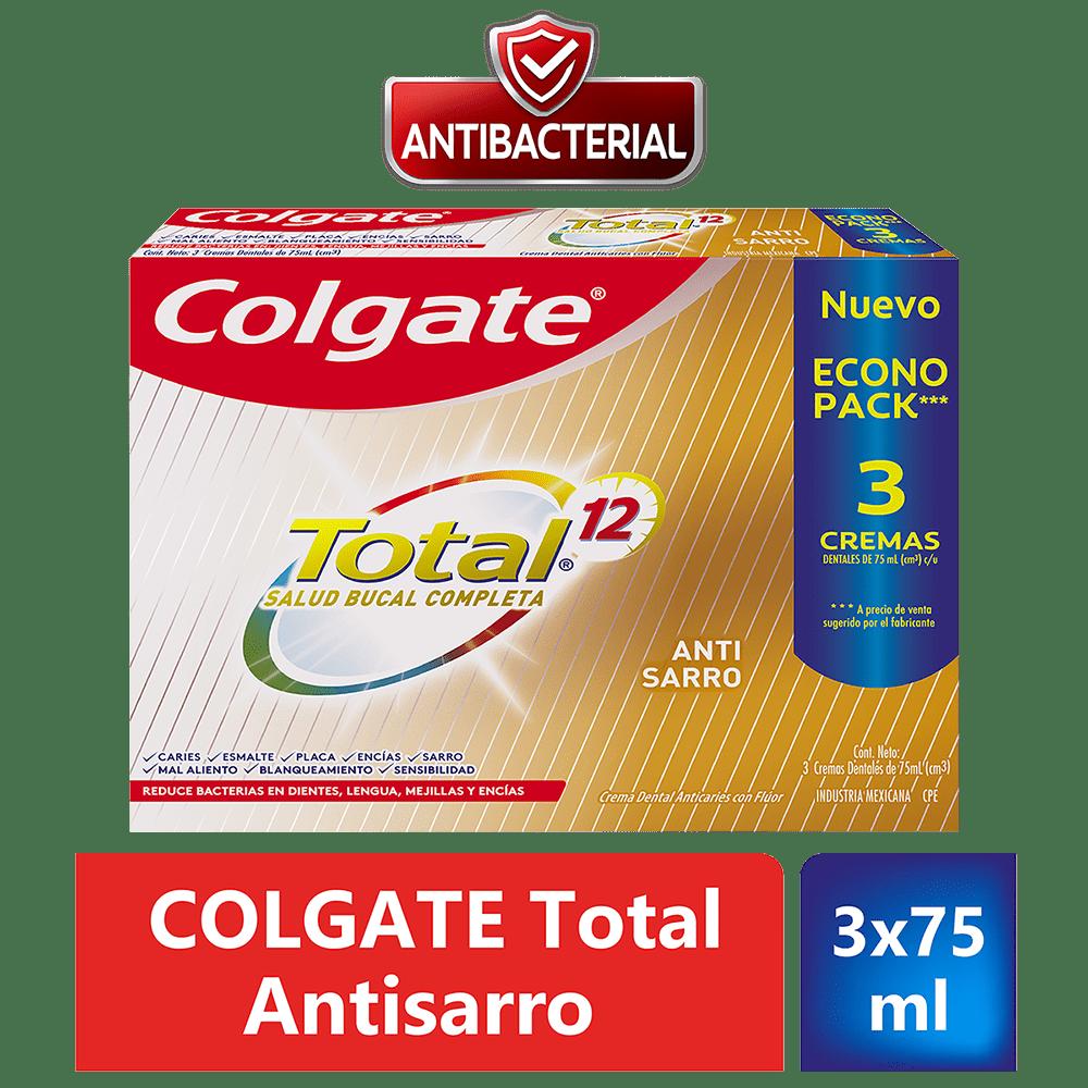 Crema Colgate Total 3X75 Ml Tartar Control