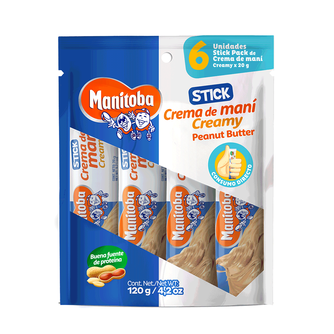 Crema De Maní Manitoba Stickpack 120 G