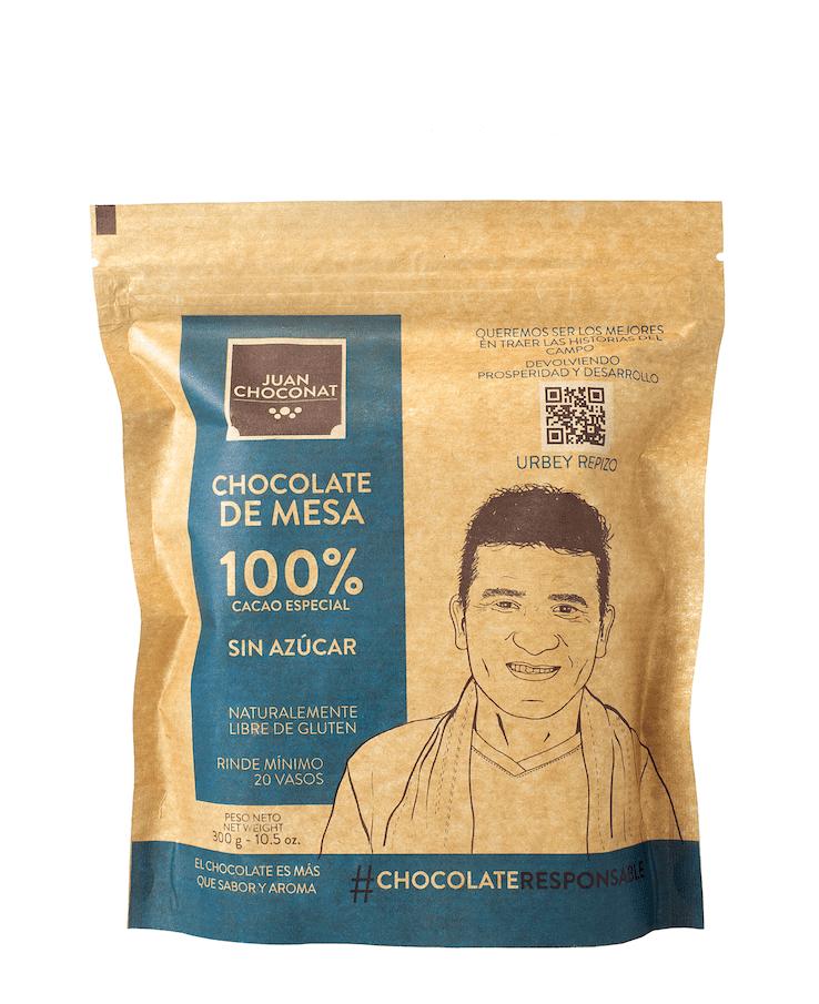 Chocolatina Juan Choconat Cacao 100% Bolsa 36600 G