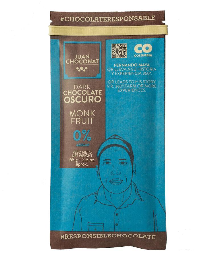 Chocolatina Juan Choconat Barra Monk Fruit 65 G