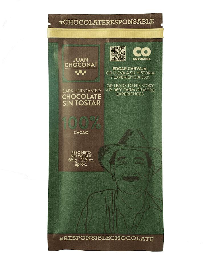 Chocolatina Juan Choconat 100% Sin Tostar 65 G