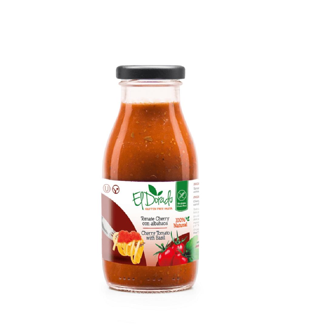 Salsa Tomate El Dorado Cherry-Albahaca 260 G