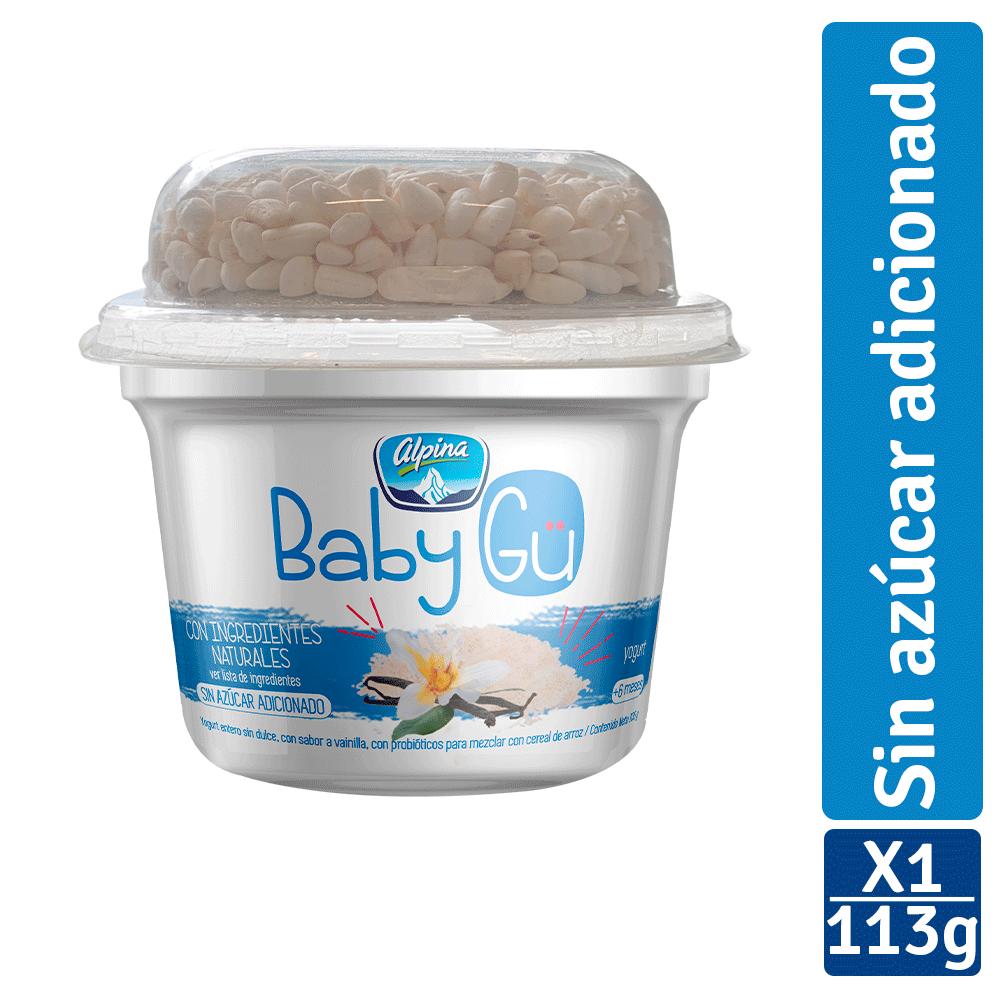 Yogurt Alpina Baby Gü Vainilla Y Cereal 105G