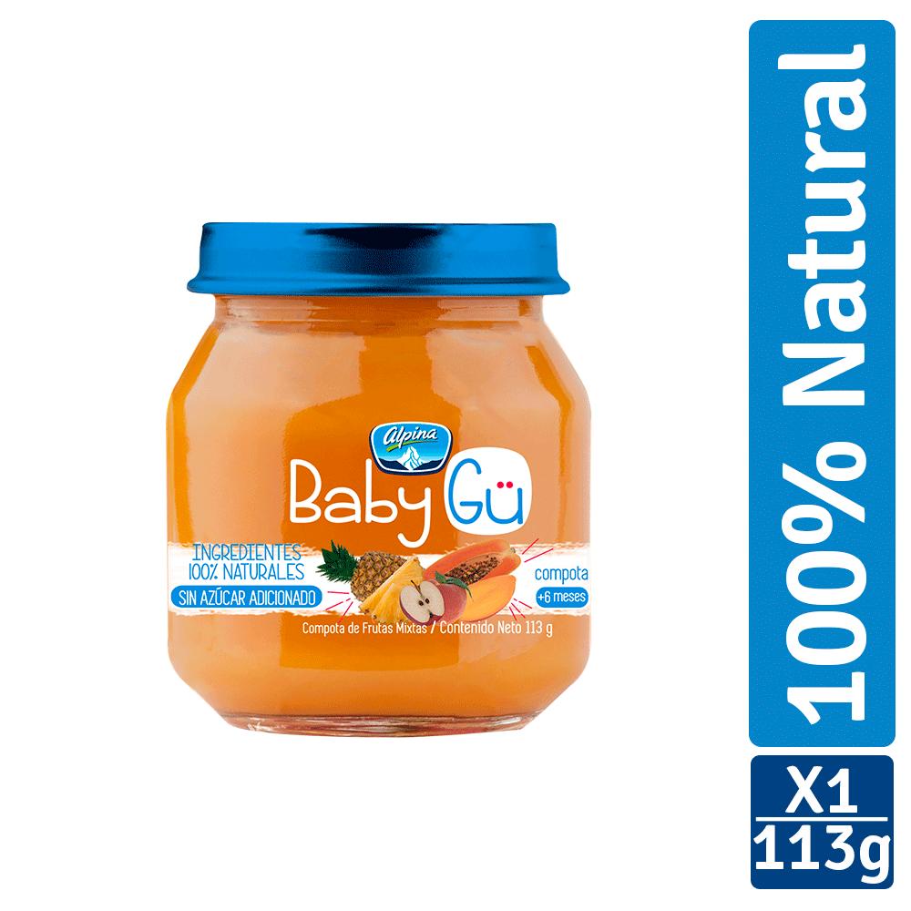Compota Alpina Baby Gü Frutas Mixtas 113G