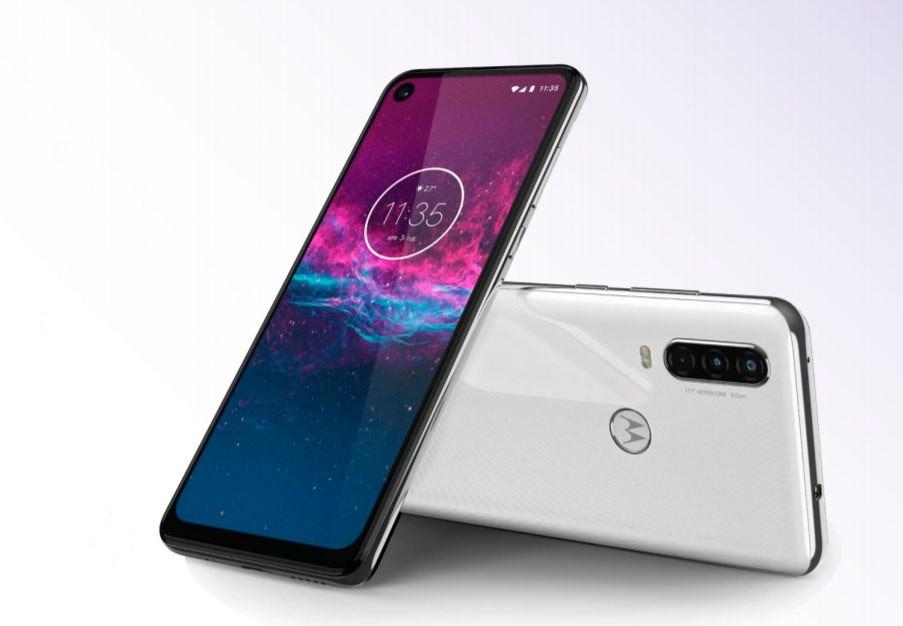 Celular Motorola One Action 128G Blanco