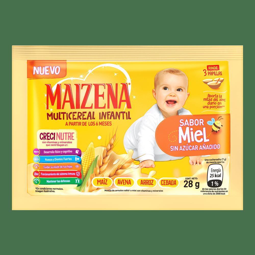 Colada Maizena Bebe Multicereal Miel 28 G