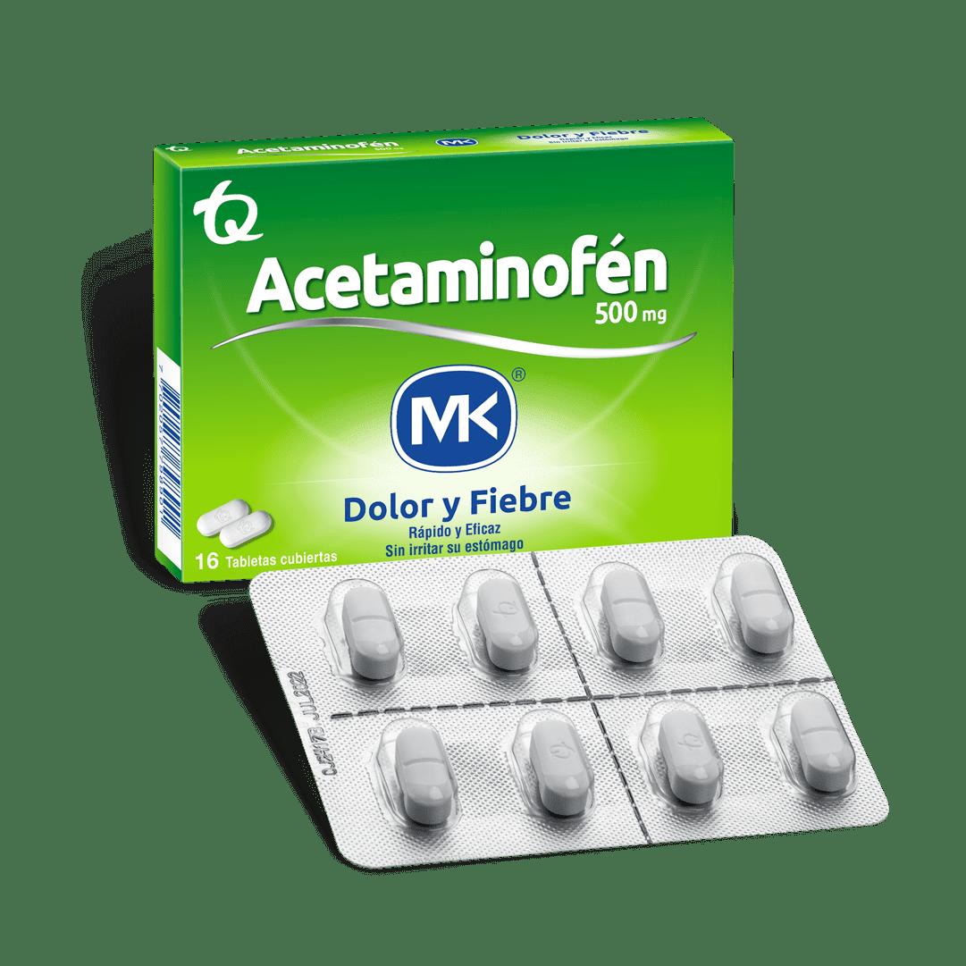 Acetaminofen Mk 500Mg 16 Und