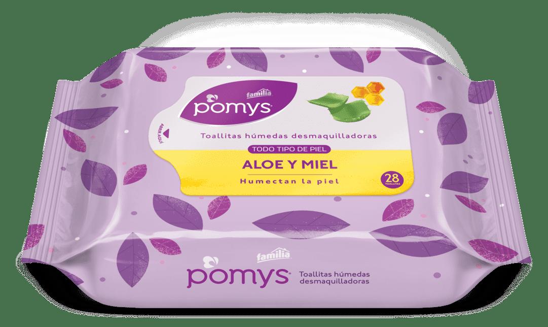 Toallitas Pomy`S Desmaquilladora Aloe Y Miel 28 Und