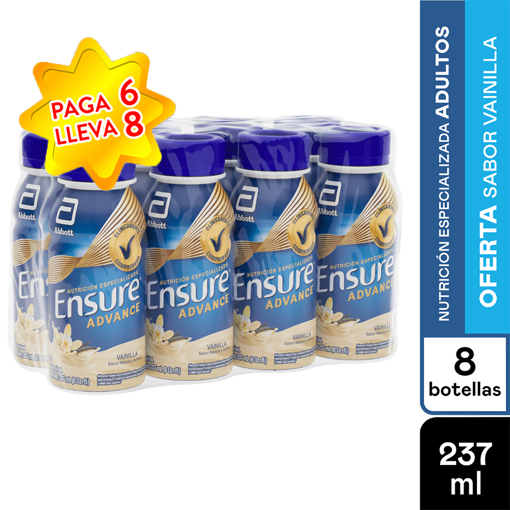 Ensure Advance Vainilla 237 Ml Pague 6 Lleve 8