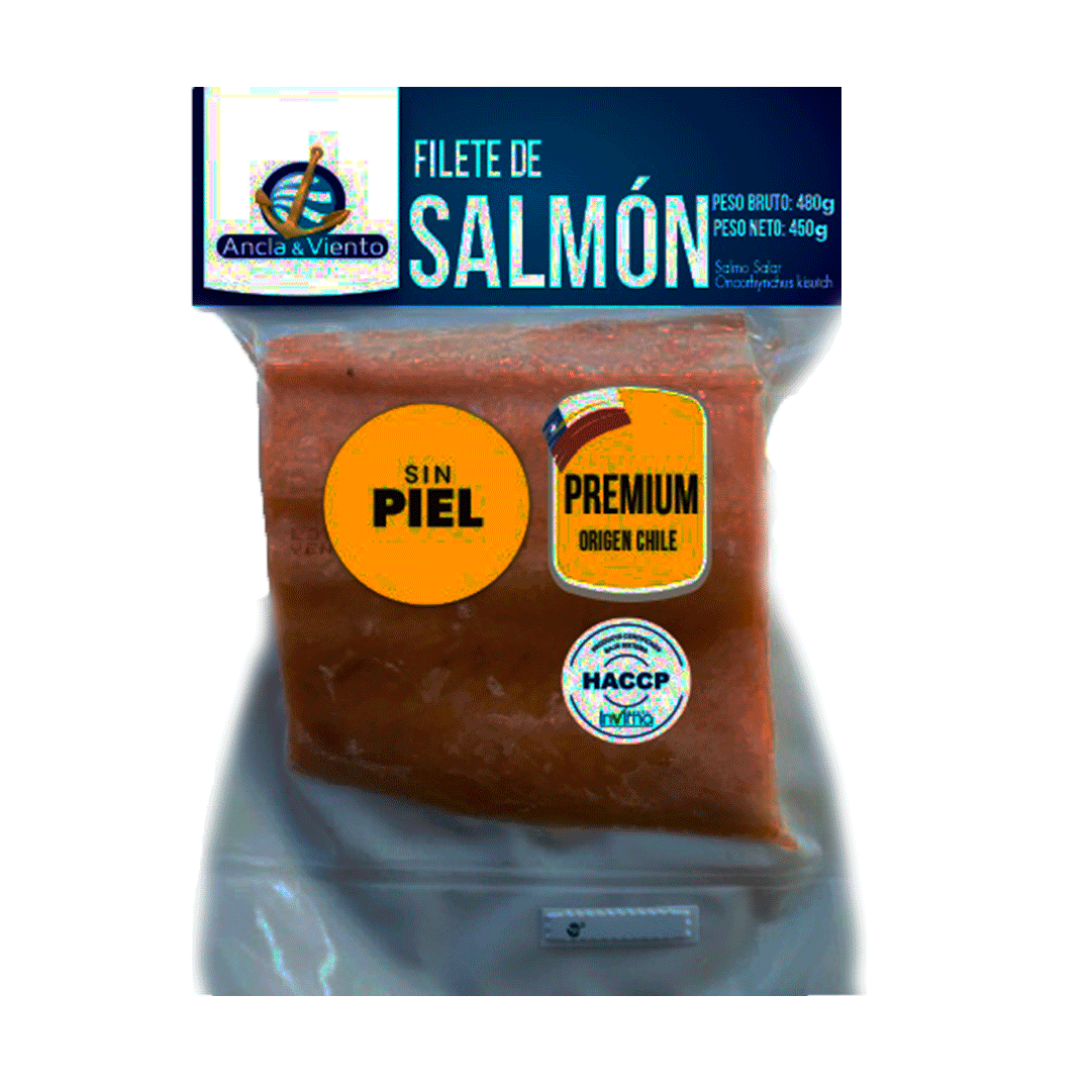 Filete De Salmón Sin Piel Ancla Y Viento 480 G