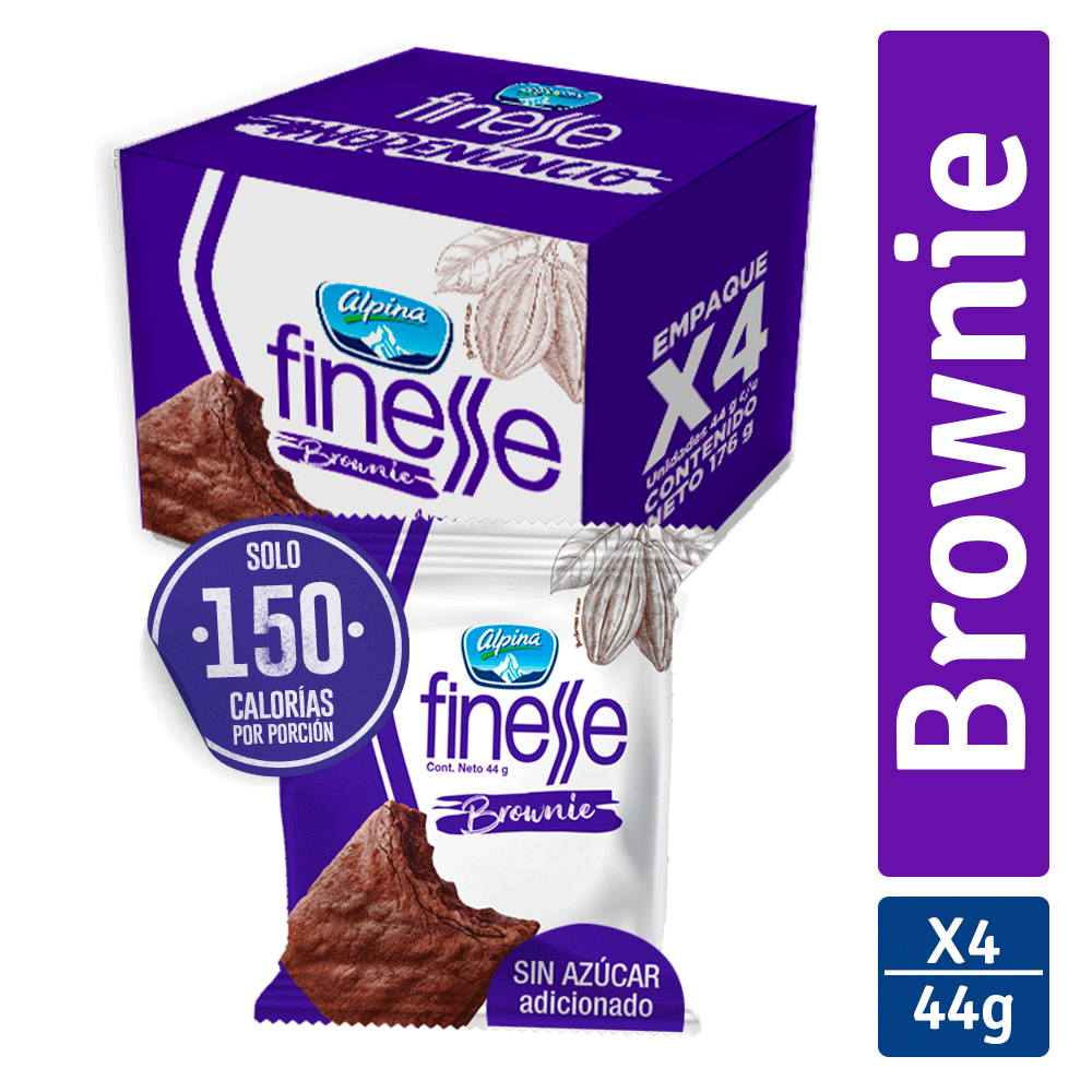 Multiempaque X4 Und Brownie Finesse 44G