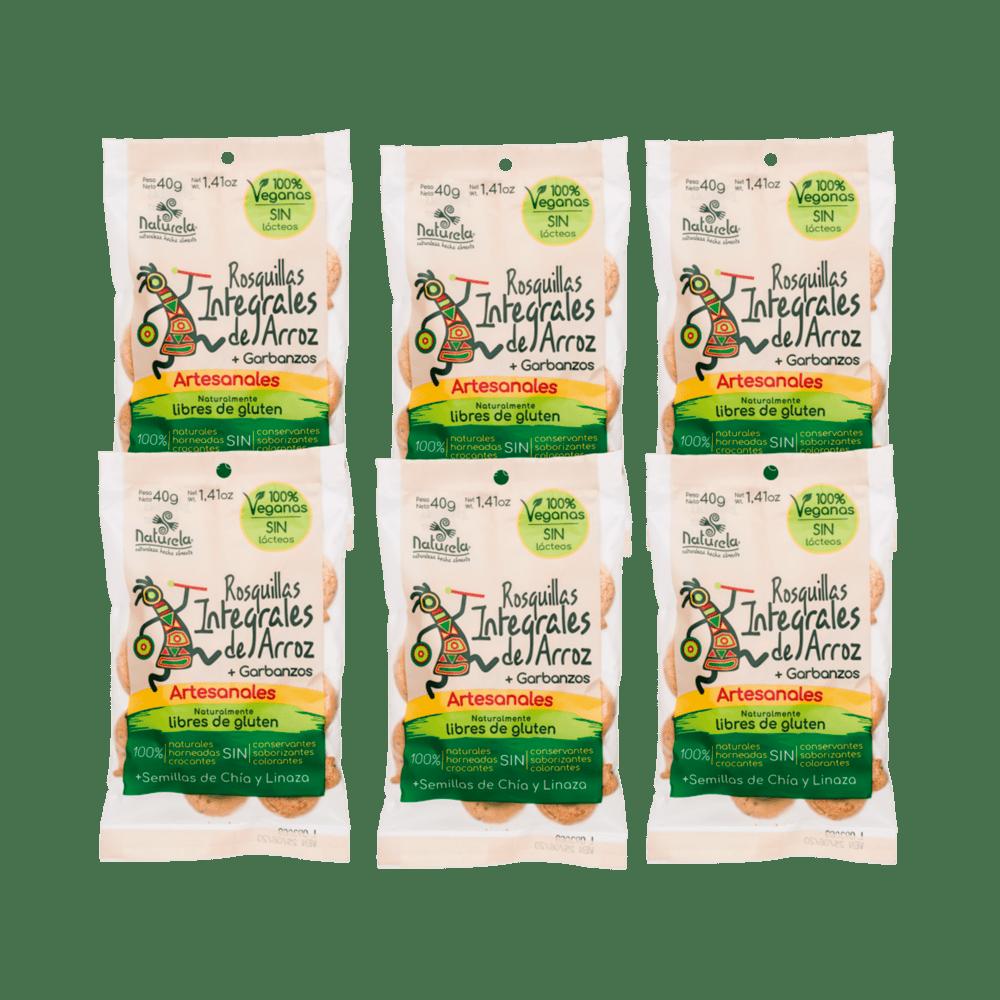 Rosquillas Naturela X 6 Paq Vegana 240 G