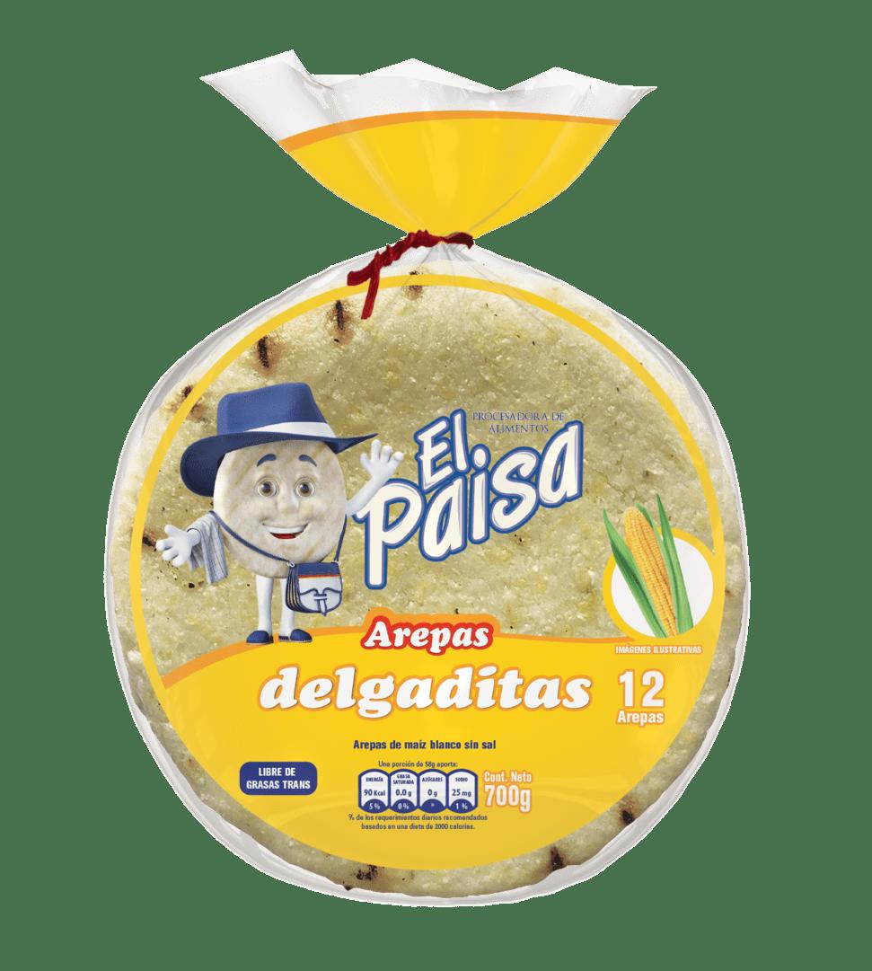 Arepas El Paisa Delgaditas X12 Und 700 G