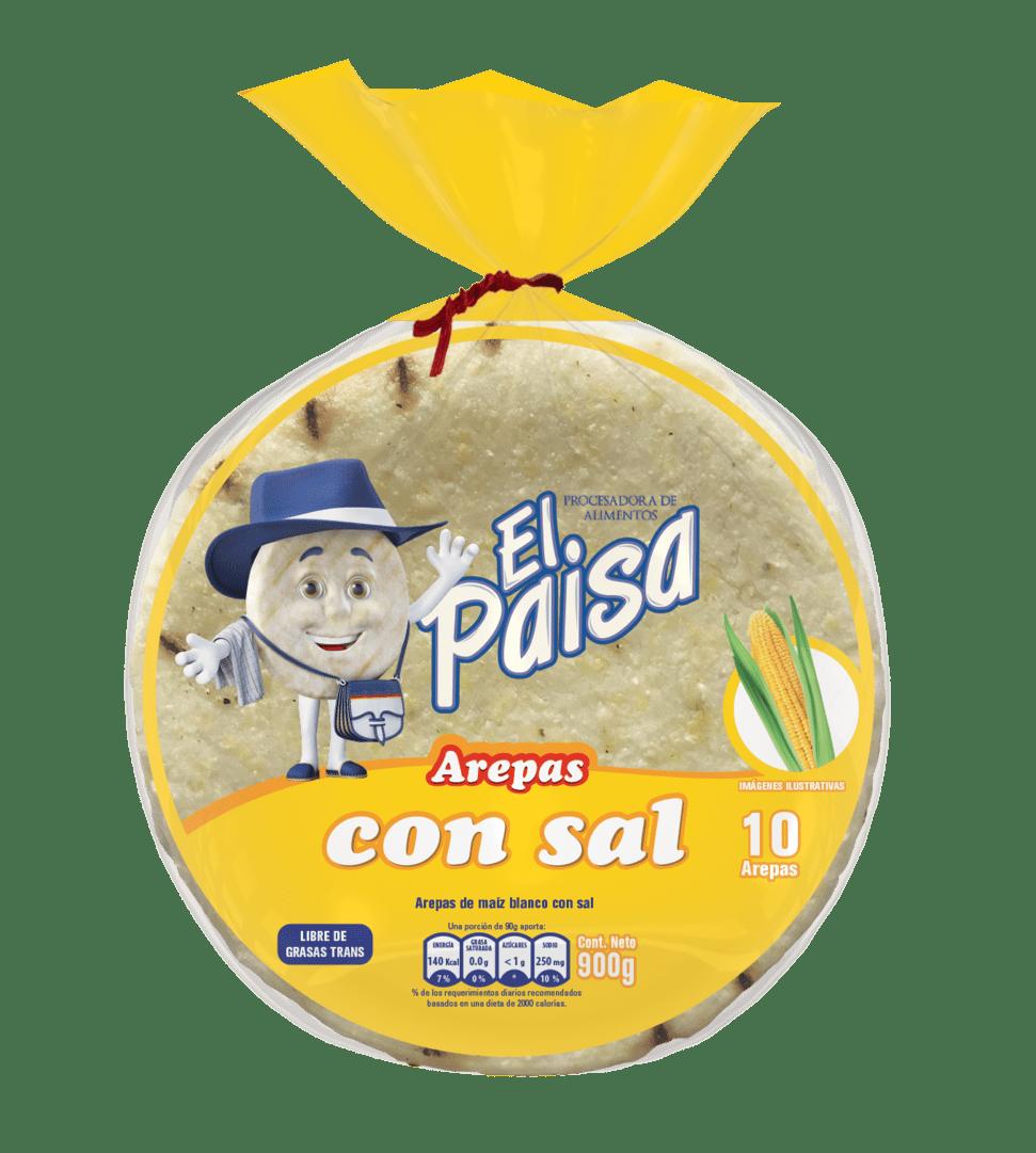 Arepas El Paisa C/Sal X10 Und 900 G