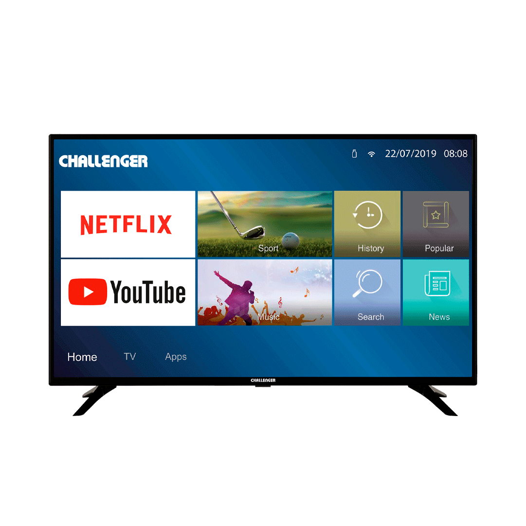 "Televisor Challenger 40"" Smart Tv Bluetooth"