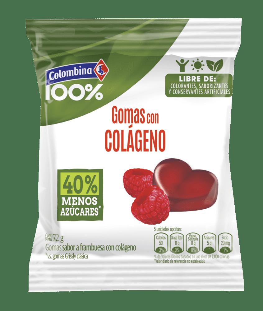 Gomas 100% Colombina Colágeno 72 G