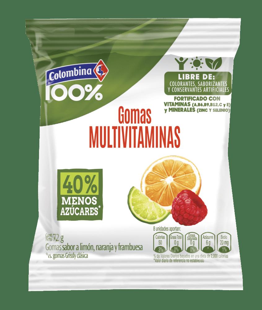 Gomas 100% Colombina Multivitaminas 72 G