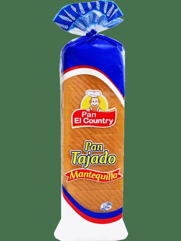 Pan El Country Mantequilla Tajado 520 G