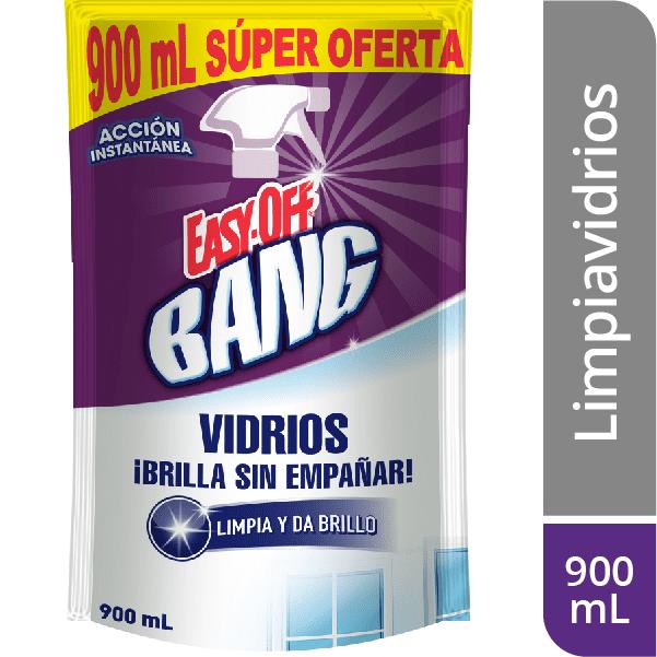 Limpia Vidrios Easy Off Bang Cristal Regular 900 Ml