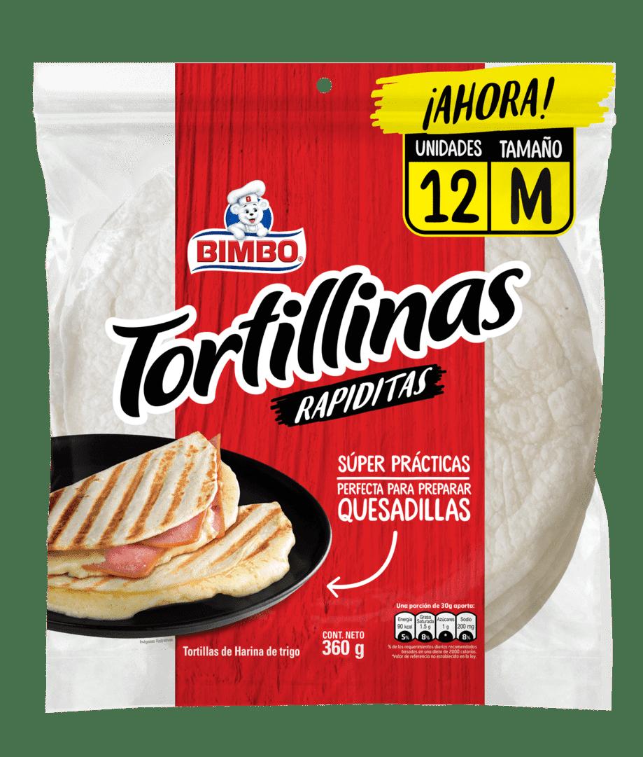 Tortillinas Rapiditas Bimbo X12 Und 360 G